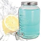 (382) Getränkespender Dispenser Behälter Glas Saftspender 3,0 Liter Zapfhahn
