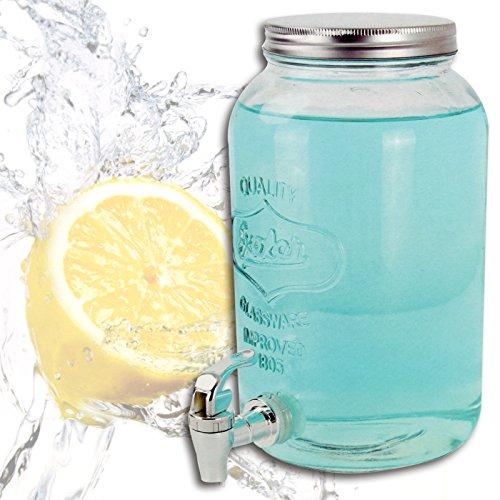 (382) dispenser bevande Contenitore Succo Vetro Dispenser 3,0litri rubinetto