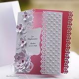 10 Einladungskarten Einladung Hochzeit Taufe Kommunion Konfirmation Firmung Geburtstag rosa Handarbeit binnbonn