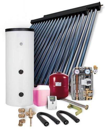 Solaranlage Komplettpaket HP30 9,78m² Vakuumröhrenkollektor mit Frischwasserspeicher 400l