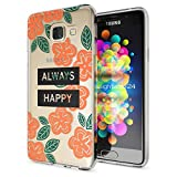 NALIA Handyhülle für Samsung Galaxy A3 2016, Slim Silikon Motiv Case Hülle Cover Crystal Schutzhülle Dünn Durchsichtig Etui Handy-Tasche Backcover Transparent Phone Bumper, Designs:Always Happy