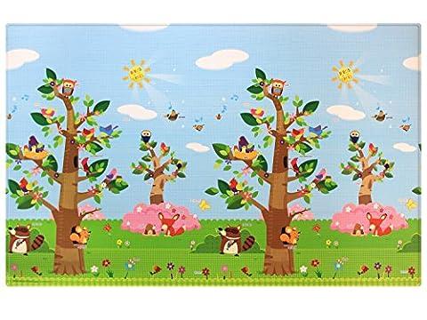 Baby Care Birds in the Trees Babymatte | Spielmatte | Kinderteppich | 210 x 140 cm