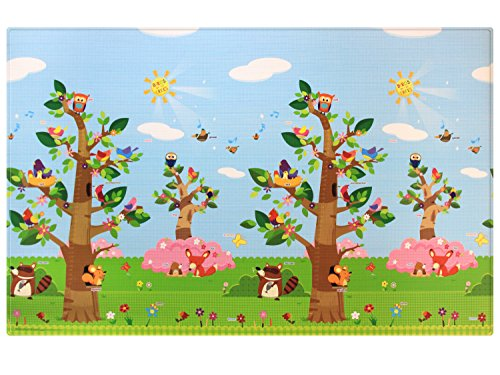 *Baby Care Birds in the Trees Babymatte | Spielmatte | Kinderteppich | 210 x 140 cm …*