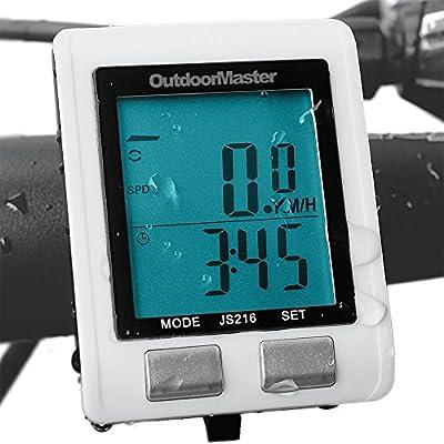 Outdoormaster Wireless Bike Computer, Waterproof Multifunction Cycling Speedometer With Backlit Display