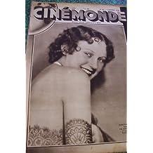 CINEMONDE [No 63] du 02/01/1930 - DOROTHY JORDAN DANSERA DANS THE HORSE OF TROY UN TANGO ECRIT PAR RAMON NOVARRO - TOM MOORE ET BLANCHE SWEET DANS UN FILM QUI NEST PAS ENCORE BAPTISE SONT EN PROIE A LA PASSION DU JEU -