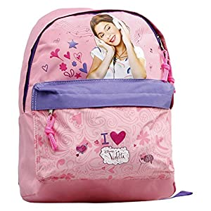 Atosa-18690 Mochila Junior Violetta Color Rosa 30x23x8 cm (18690