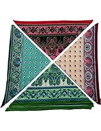 Blacksmithh 100% Mercerized Cotton Premium Ladies Handkerchief Colorful Prints