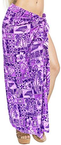 Bademode Wrap Sarong Vertuschung Pareo Badeanzug Badebekleidung Frauen Anzug violett Baden (Baden-abdeckung Sarong)