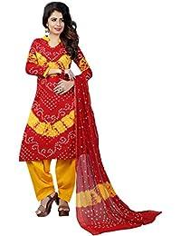MEGHALYA Women's Satin Cotton Dress Material (V Batik Cotton Dress-4005)