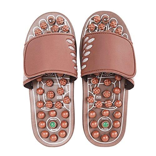 age Hausschuhe Männer und Frauen Innen Haushalt Rutschfest Tragbare Schuhe Einstellbares Obermaterial Modeschuhe (größe : M-40-42) ()
