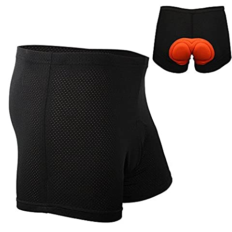 Ammiy®Unisex (Men's / Women's) 3D Padded Cycling Underwear Shorts Breathable Lightweight Performance Mountain Bike Bicycle Cycling Shorts Liner Underwear Underpants Padded 2.1 CM Sponge Extra Durable Short Pants