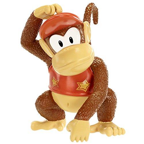 Mario Bros - World of Nintendo Diddy Kong figura, 6 cm (Jakks Pacific JAKKNINDIDDYKONG)