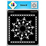 SWAGSTATION Warli Art Stencils for Craft and Art - Warli Border Stencils - 6x6 Inches - Reusable DIY Stencils for Painting on
