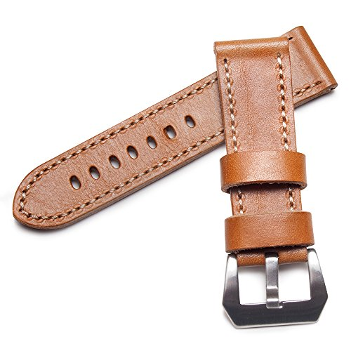 watchassassin-genuine-leather-light-tan-white-stitch-watch-strap-pre-v-buckle-24mm