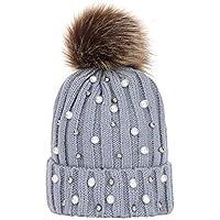 312a9e7f94a0 Kaiki Femmes l hiver Automne,BéBé GarçOn Filles Filles Hiver Bonnet Tricot  Beanie Hairball