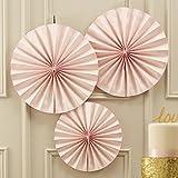 Ginger Ray Pastell Rosa Kreis Lüfter Aufhängen Dekorationen für Party oder Hochzeit - In Pastellfarben Perfektion