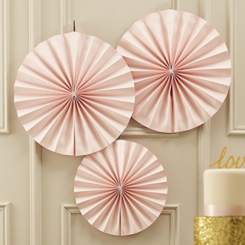 Ginger Ray Pastell Rosa Kreis Lüfter Aufhängen Dekorationen für Party oder Hochzeit - In Pastellfarben Perfektion -