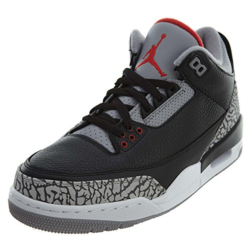 premium selection 4a88f 6ba16 Nike Scarpe Uomo Air Jordan 3 Retro OG n Pelle Grigia e Nera 854262-001