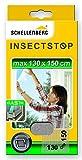 Schellenberg 51003 - Mosquitera elástica, protección anti insectos y moscas para ventanas (máximo 130 x 150 cm) color blanco