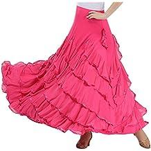 Traje de Baile Moderno Falda de Baile Flamenco de Mujer Vestido Baile Latino Salsa Flamenco
