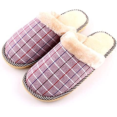 ZHLONG Home interni antiscivolo uomini caldo casual Pantofole , 2
