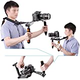 Neewer® Aluminium Alloy Foldable DSLR Rig Movie Kit Film Making System Shoulder Mount Support Rig Stabilizer for Digital SLR Camera and Camcorder, such as Canon 5D Mark II III 1D 7D 60D 700D 650D 600D 550D Rebel T5i T4i T3i T2i, Nikon D4 D800 D700 D300 D90 D5000 D7000 D7100 D7200, Sony A7 A7R A7S A7II A6000 NEX-5 NEX-7 A65 A55 A33 A580 A560 (Orange)
