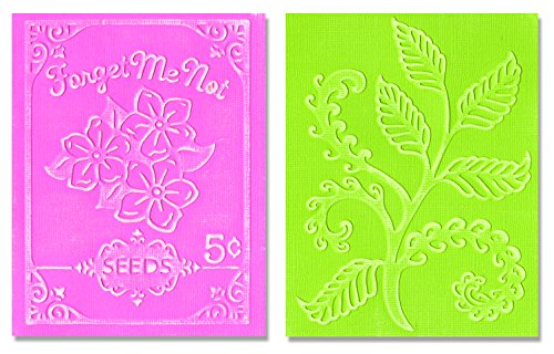 sizzix-ferns-and-seed-packet-set-by-jen-phil-textured-impressions-embossing-folders-pack-of-2-multi-