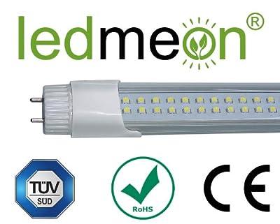 ledmeon® - LED Röhre 60 cm Warmweiß/Warm White 3000K - 9 Watt - Abdeckung transparent - TÜV SÜD geprüft + LED Starterbrücke