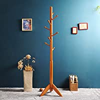 SHIEM 1.7m solid wooden clothes hanger landing wooden hangers bedroom hanger modern take clothes (maximum carrying capacity 30kg) clothing