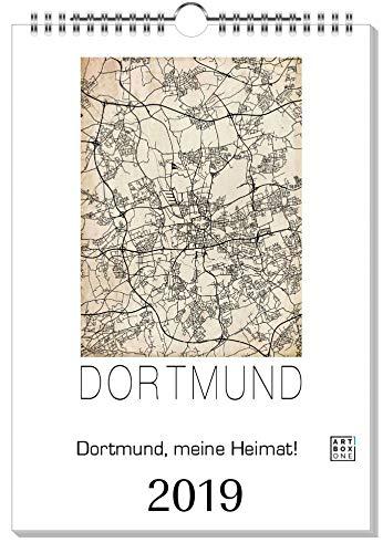 artboxONE Kalender 2019 Dortmund, Meine Heimat! Wandkalender A4 Städte