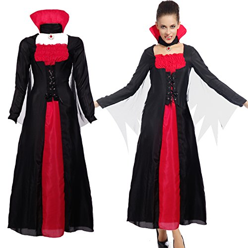 Imagen de maboobie  disfraz de vampiresa drácula para mujer talla unica fiesta temática carnaval halloween alternativa