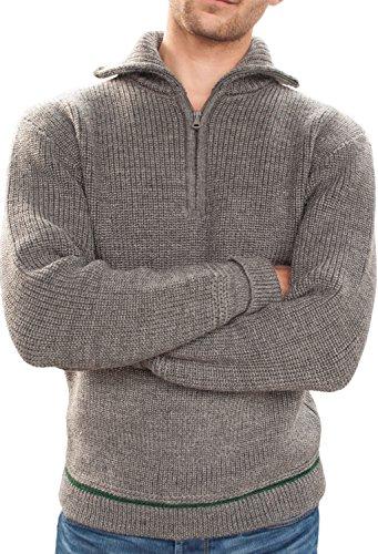 Hanse-Troyer: Seemannspullover Strickpullover für Herren aus 100% Schurwolle | Hergestellt in Deutschland in den Größen 44-60 (S-XXL) | Zeitloses Design in Luxusqualität Hellgrau