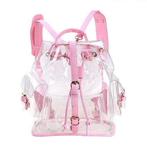 Clear backpack – Zicac Sac à Dos Transparent Imperméable Femme pour Plage Voyage