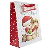 Hallmark Forever Friends Christmas Gift Bag 'Hooray for Presents!' - Large Bag