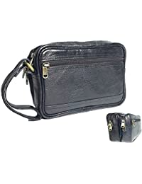 Genuine Leather Money Carrying Pouch/ Multipurpose Travel Pouch Leather Big Wrist Clutch Bags Business Handbag...