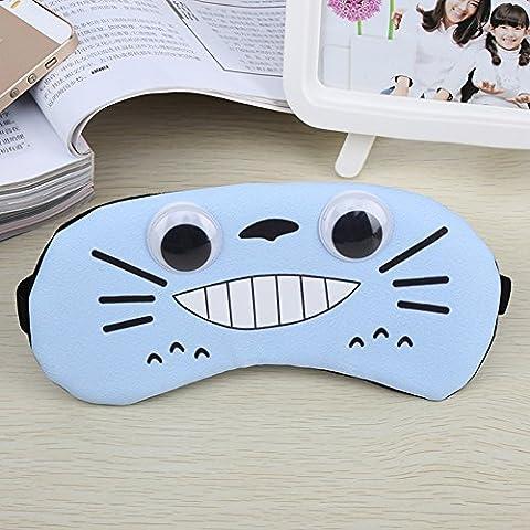 Augenmaske/Schlafmaske verstellbar Cute cartoon100% Baumwolle Augenklappe Augenmaske Reisen Big Sleep Patch atmungsaktiv lindern Müdigkeit Nerven Schutz(Blau)