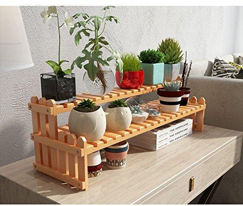 &Présentoir Support de fleur Support de fleur en bois massif Bureau Bureau Windowsill Mini Multi-couche Fleur Siège Couleur bois ( taille : 70cm )