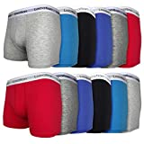 12 / 24 Pack Mens Location Boxer Shorts Trunks Gift Underwear Cotton Boxers M