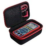 Khanka Hart Tasche Case Für AstroAI Digital Multimeter True RMS 6000 Counts Advanced Multimeter Schutzhülle. (Passt für TRMS 4000, Rot Reißverschluss)