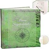 Fotoalbum / Jugendweihealbum / Erinnerungsalbum -  Meine Jugendweihe  -  Traveler grün  - Gebunden - blanko weiß - 60 Seiten - für bis zu 180 Bilder zum E..
