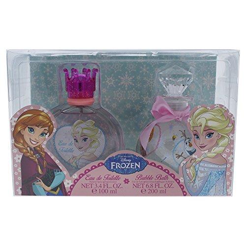 Air-Val Disney Frozen/Die Eiskönigin/Geschenk-Set, Eau de Toilette Parfum Spray plus Badeschaum - für Kinder, 1 Stück