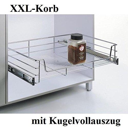 XXL-Korb, KB 50cm,Teleskopschublade, Küchenschublade, Tiefe 500mm, mit Kugelvollauszug