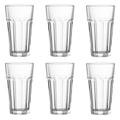 Snap by R&B 179194 Longdrinkbecher '4me' 400ml, H 14 cm, Glas (6er Pack)
