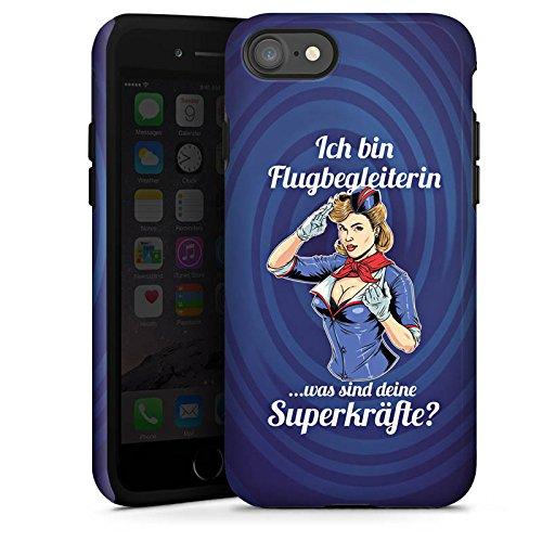 Apple iPhone X Silikon Hülle Case Schutzhülle Flugbegleiterin Stewardess Spruch Tough Case glänzend