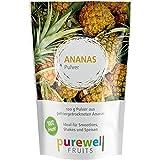 ANANAS Pulver von Purewell FRUITS - Hier kommt die PURE Frucht - ANANAS - 120g Pulver aus schonend gefriergetrockneten Ananas, ohne jegliche Zusätze