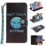 Nancen Samsung Galaxy S6 Edge Plus / G9280 (5,7 Zoll) Handytasche/Handyhülle. Flip Etui Wallet Case in Bookstyle - Premium PU Lederhülle Hülle Cover Mit Lanyard/Strap, Standfunktion