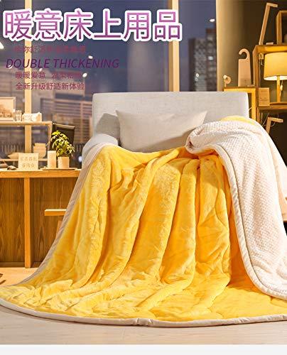Simmia Home Decke Flanell Babydecke warme leichte Plüsch werfen Fleece Couch Schlafsofa zu Decken Gelb König Größe 200 x 230 cm (Decke König Gelbe)