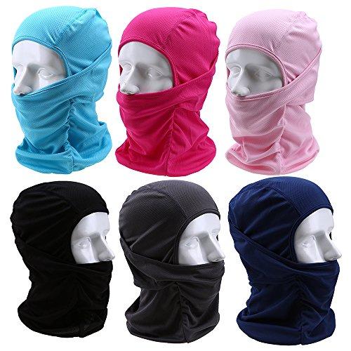 Preisvergleich Produktbild POSSBAY Cool Balaclava Sturmmaske Multifunktion Sturmhaube Motorrad Maske Skimaske für Outdoor Sport Winter Sommer Fahren Urlaub
