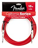 "Fender FG C15R Guitar Cable- Candy Apple Red (15"", Candy Apple Red)"