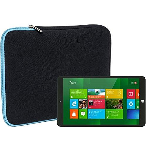Slabo Tablet Tasche Schutzhülle für Xoro PAD 8W4 Plus Hülle Etui Case Phablet aus Neopren – TÜRKIS/SCHWARZ
